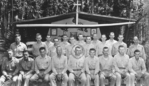2316 169FA Officers, chapel Ondonga