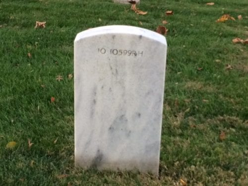 Wilber's gravestone, rear view. Credit: Bart Hoskins.